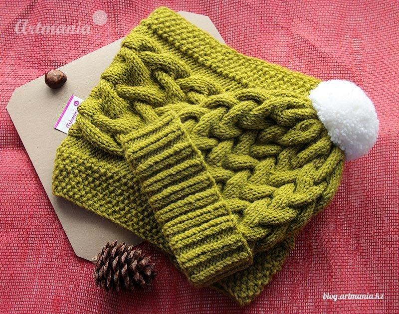 схема и описание узора для шарфа