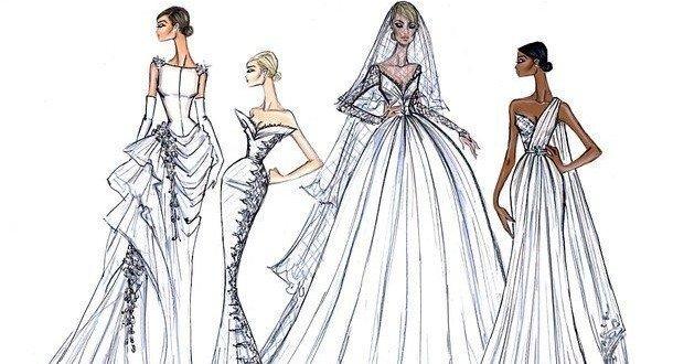 Эскизы платьев рисунки карандашом для