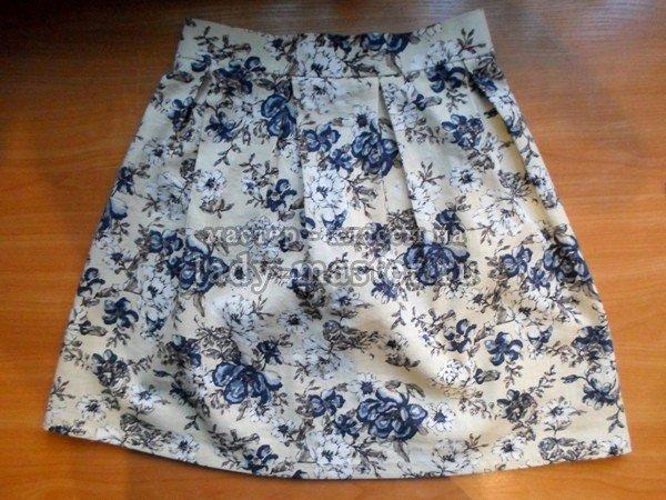 Как сшить юбку в складку из льна