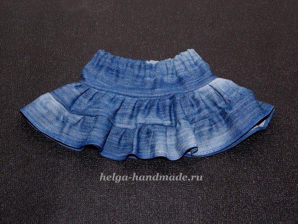 Джинсовая юбка для девочки