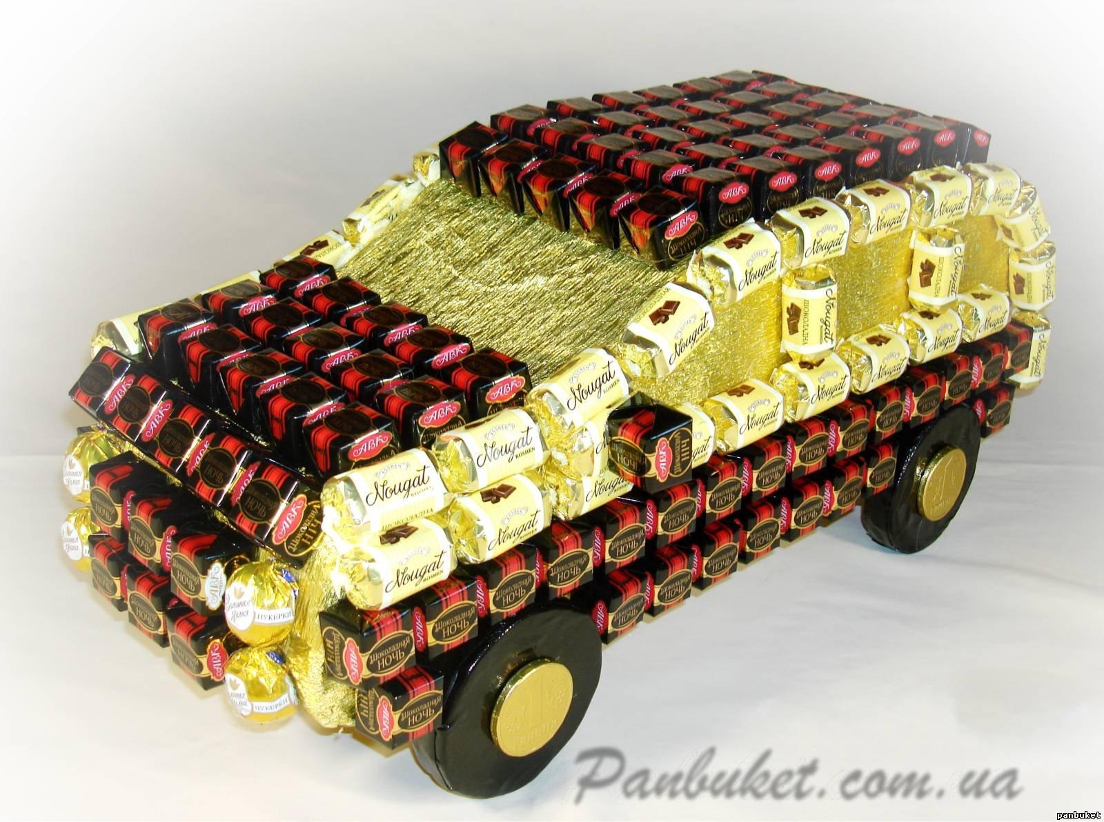 Как сделать конфеты машину
