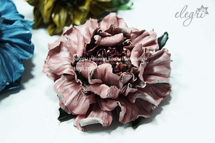 Розы из ленточек своими руками фото 425