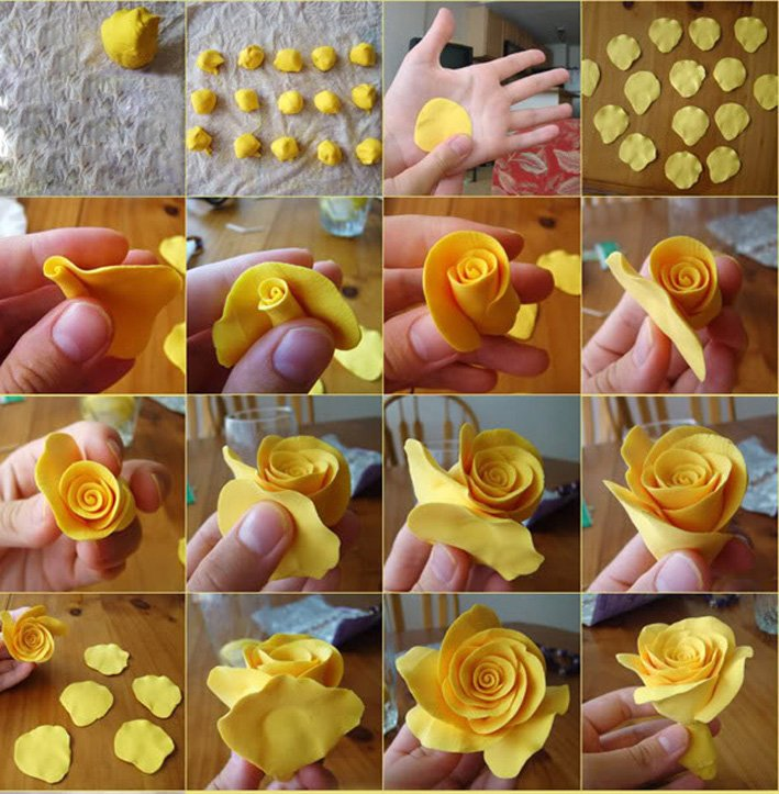Цветы из сахарной мастики своими руками