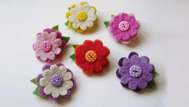 Цветок из фетра: мастер класс пошагово