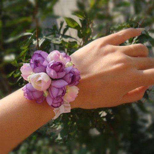Цветок на руку своими руками: браслет подружкам невесты
