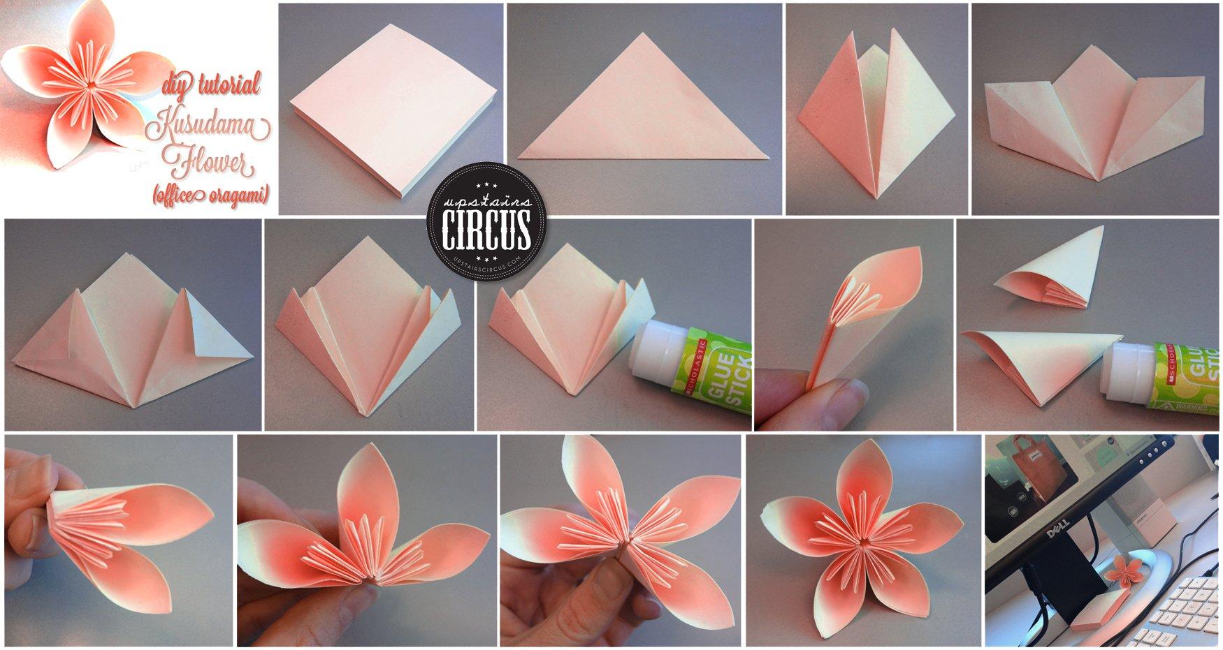 Оригами цветы из бумаги пошаговой инструкции