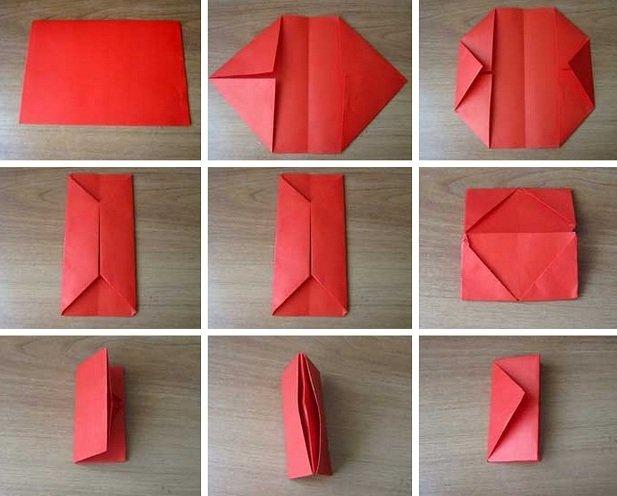 Поделки из бумаги кошельки 54