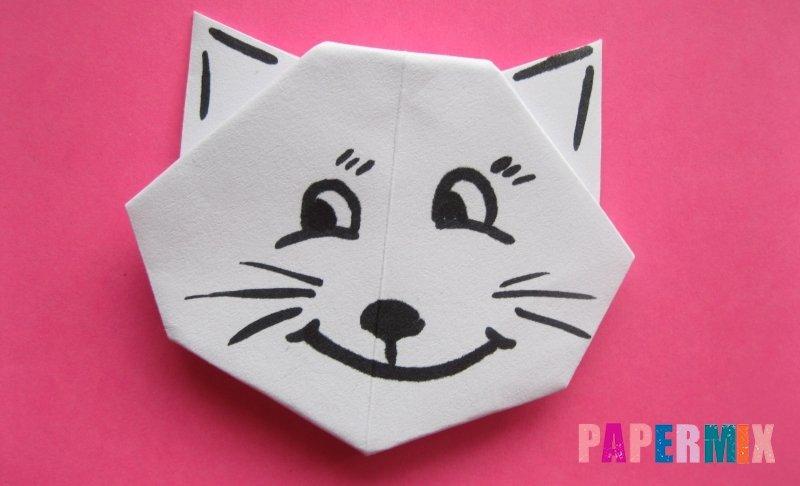 Котик из бумаги сделай сам