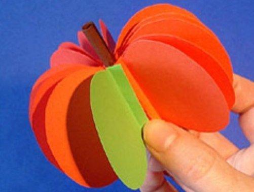 Как сделать из цветной бумаги цветной сделать фрукты