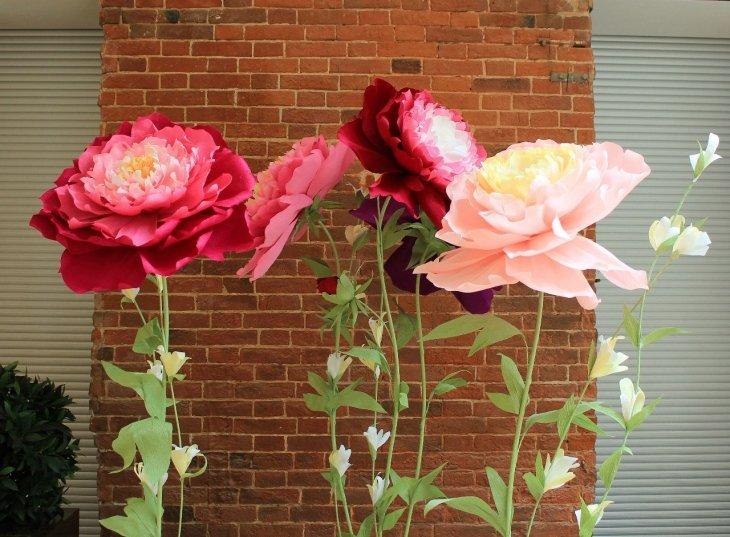 Цветы из гофрированной бумаги своими руками пионы фото 891
