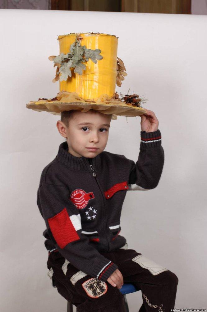 Осенняя шляпа-поделка