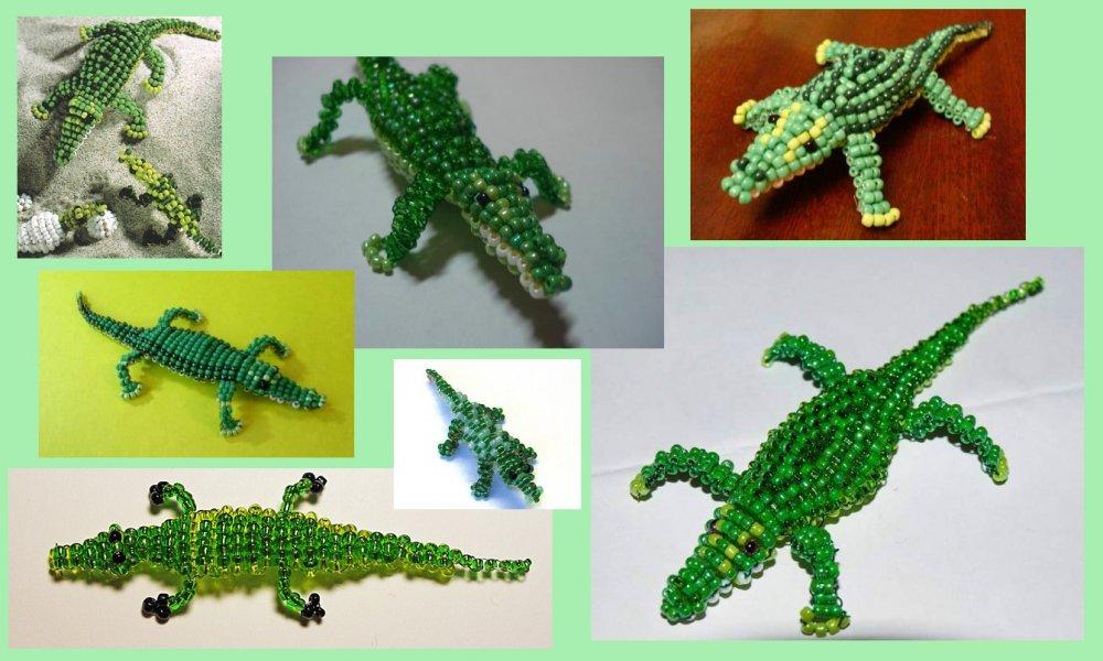 Плетем крокодильчика