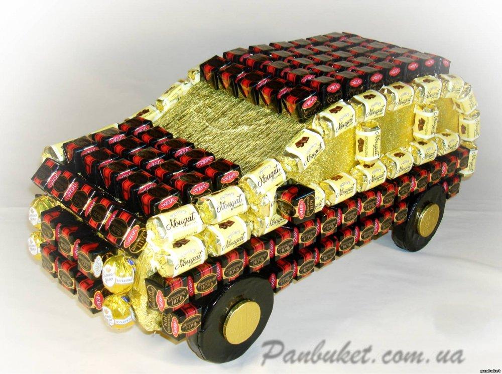 Машины из конфет своими руками
