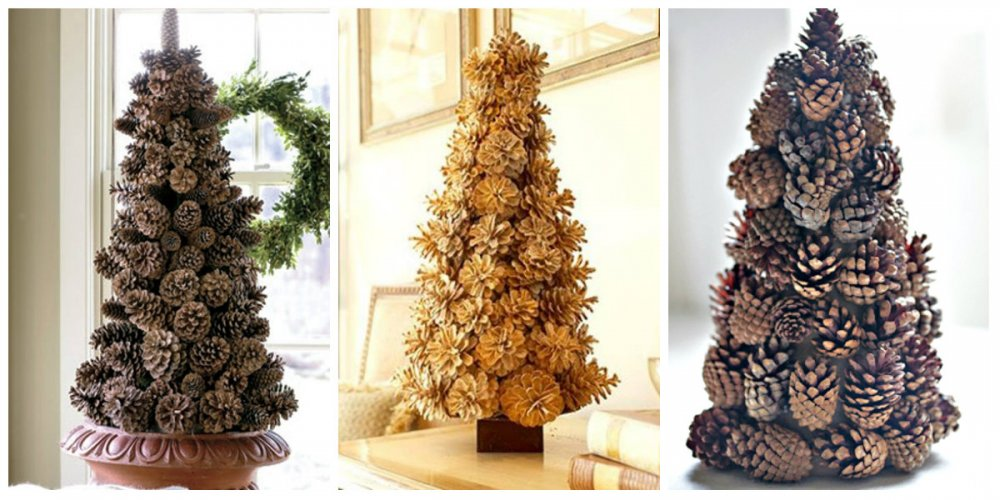 Сделать елку из еловых шишек своими руками