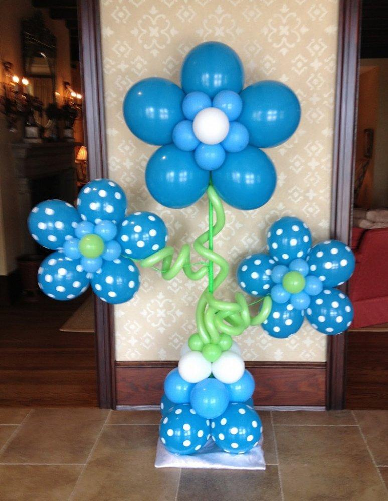 Цветы из воздушными шарами своими руками