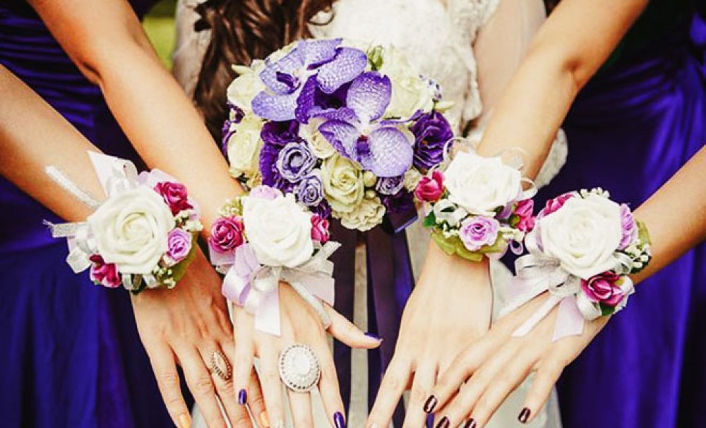 Цветок на руку своими руками