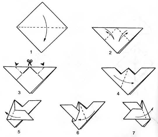 Как сделать летучую мышь из бумаги которая хлопает крыльями