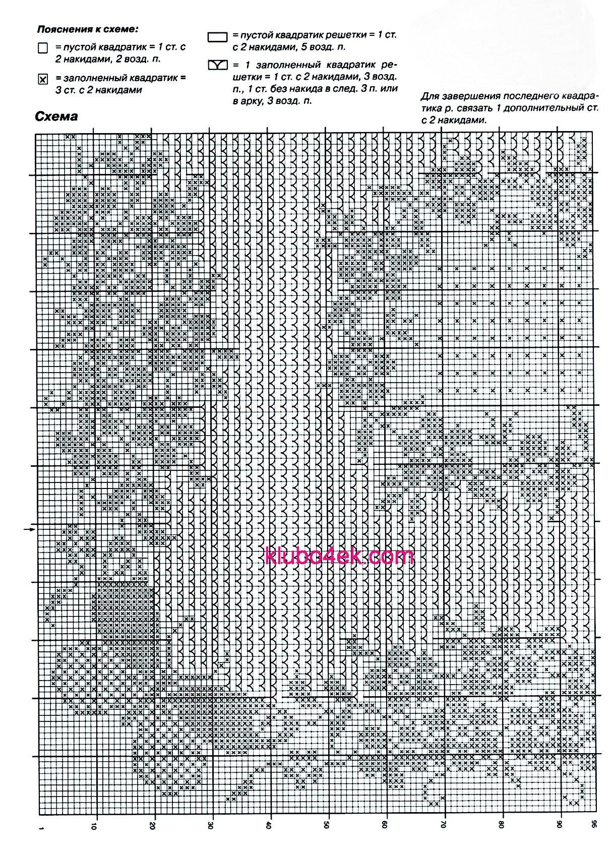 Вязать крючком сетка схема фото 669