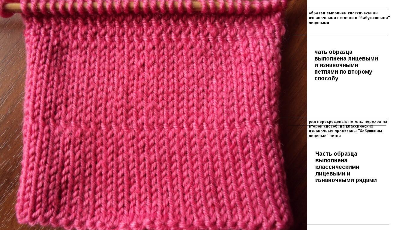 Вязание резинки бабушкиным способом 67
