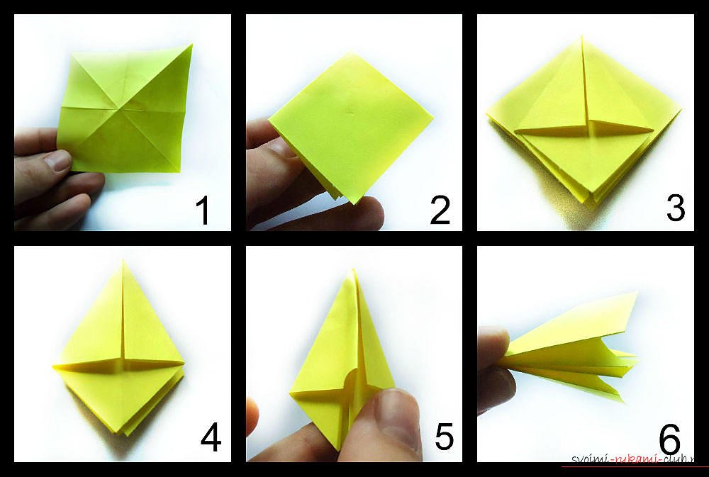Схемы для сборки модульного оригами для начинающих