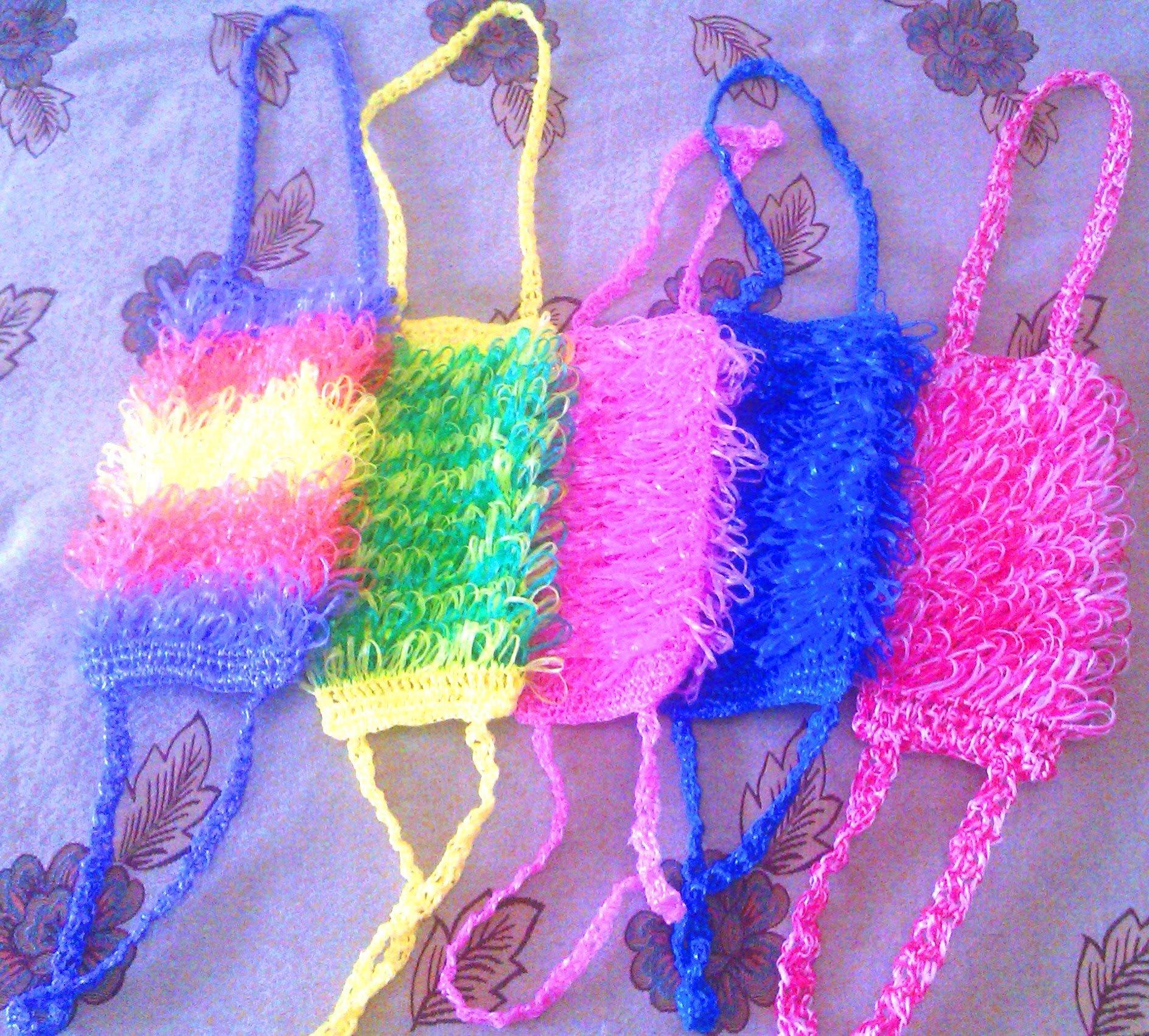 Вязание мочалки пошагово 42