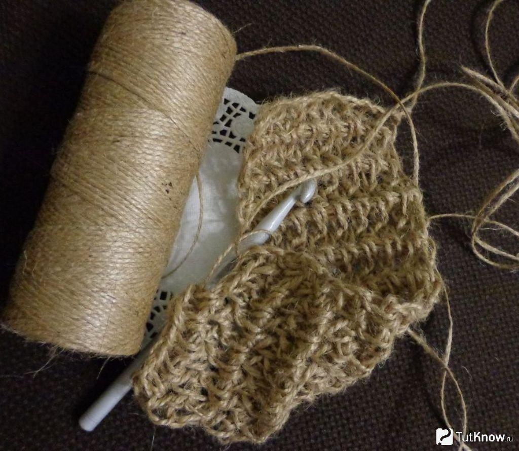 Вязание мочалки крючком: видео прилагается