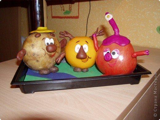 Смешарики из фруктов и овощей