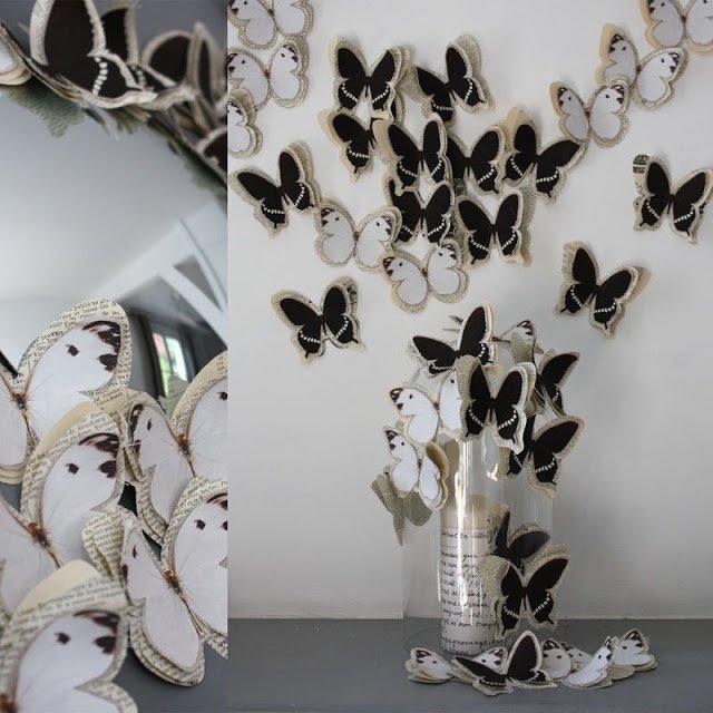 Поделки объемные бабочки