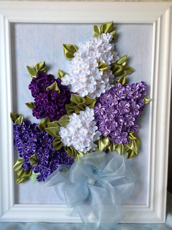 Как сделать цветы канзаши из атласных лент фото 737