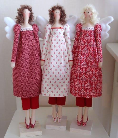 Тильда ангел: выкройка в натуральную величину и мастер класс с фото