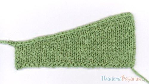 Частичное вязание спицами мастер класс