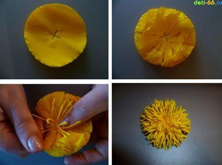Как сделать хризантемы из бумаги