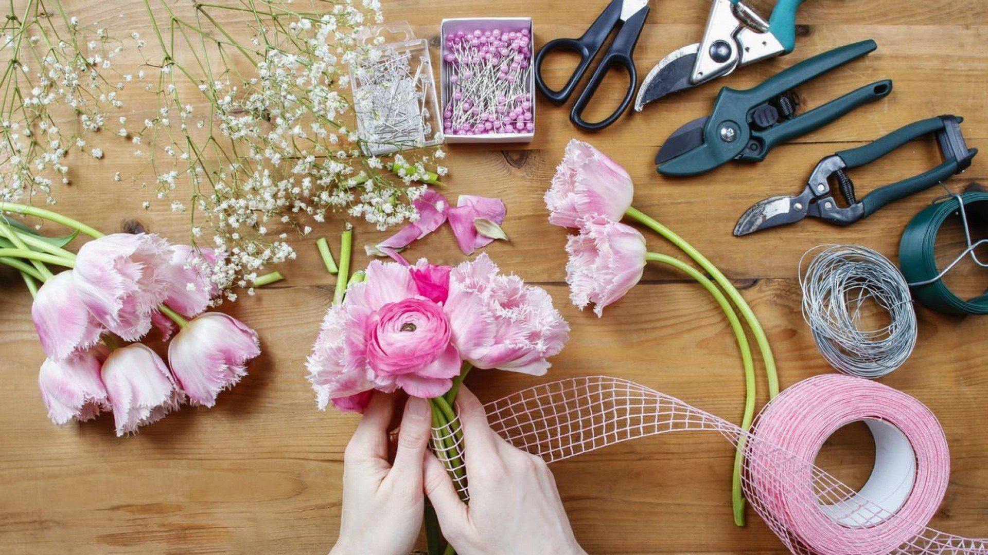 Цветы из ткани своими руками для 52