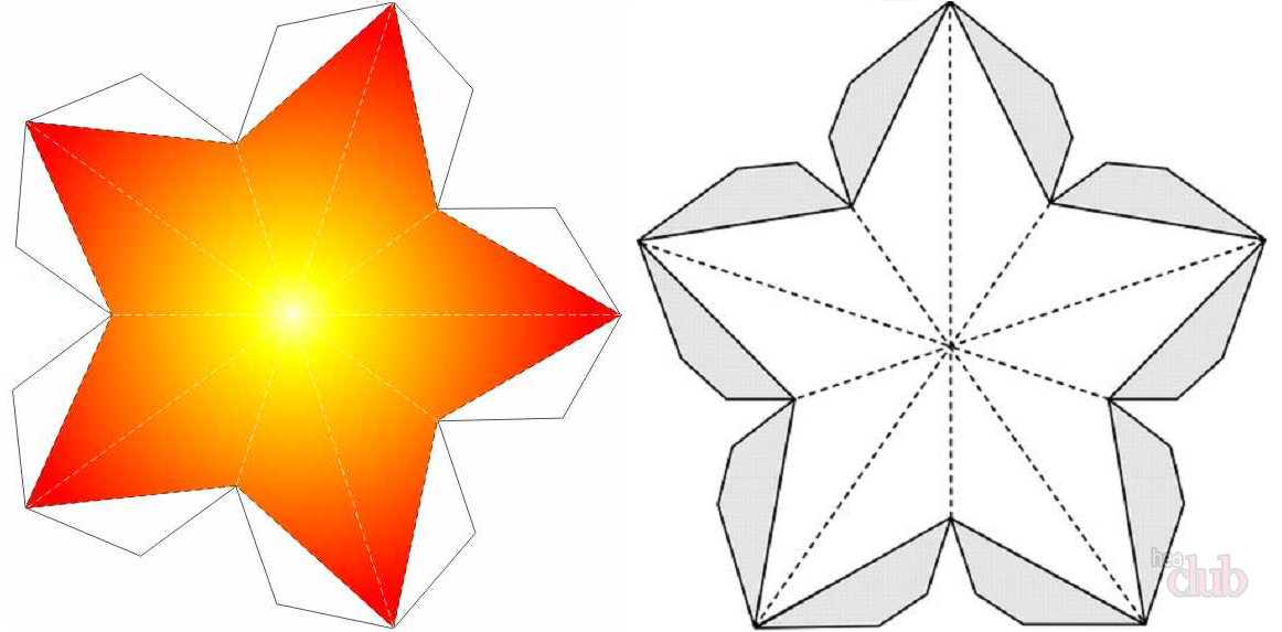 Объемные звезды из бумаги своими руками схемы шаблоны на новый
