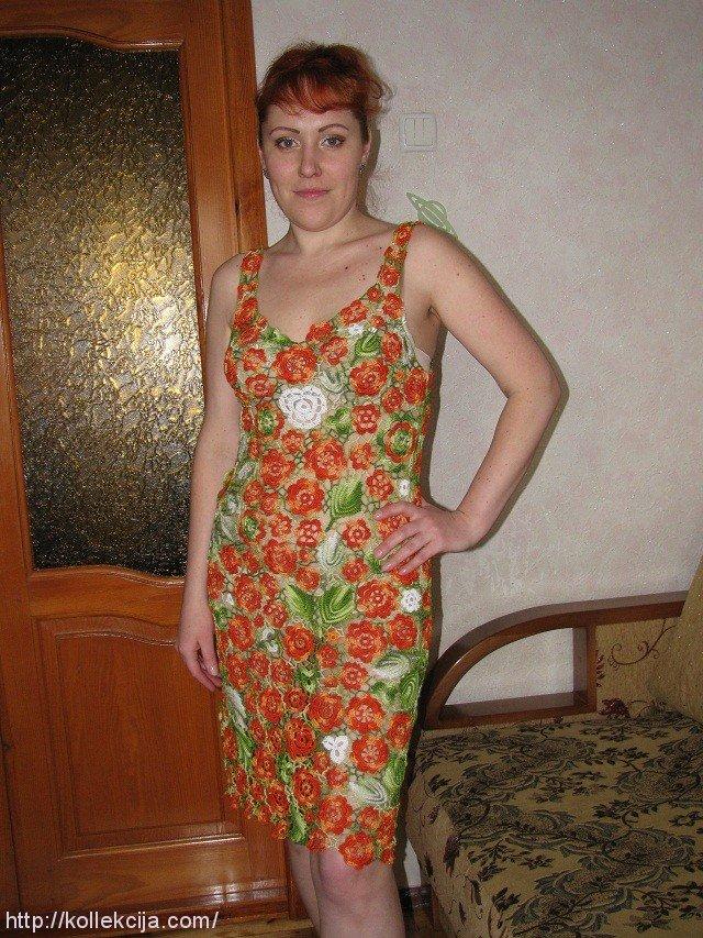 Платье ирландское кружево: схемы с описанием