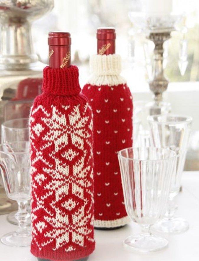 Чехол на бутылку в новый год