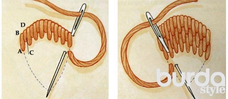 Как научиться объемной вышивке 9