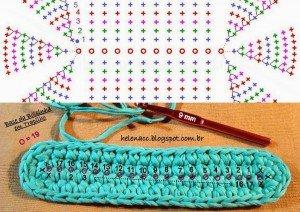Схема сумки из трикотажной пряжи