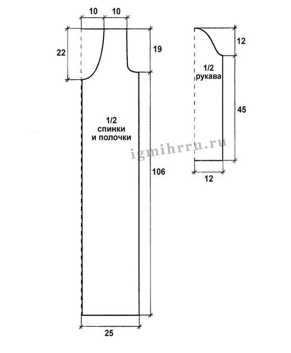 Летнее пальто крючком: схемы и описание