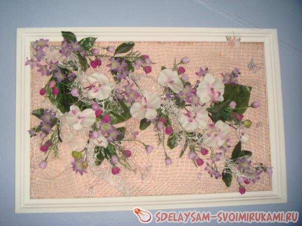 Картина из цветов своими руками: мастер класс канзаши