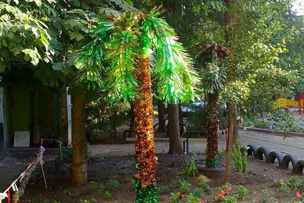 Как сделать пальму из бутылок инструкция фото 36