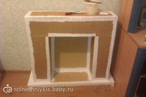 Камин пошаговая из картона