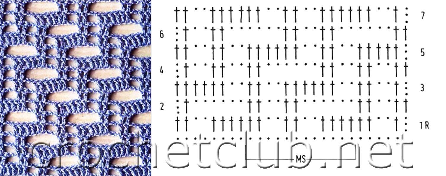 Схемы вязания филейных сеток крючком