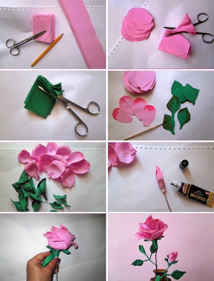 Фоамиран цветы: мастер - класс для начинающих и шаблоны с фото
