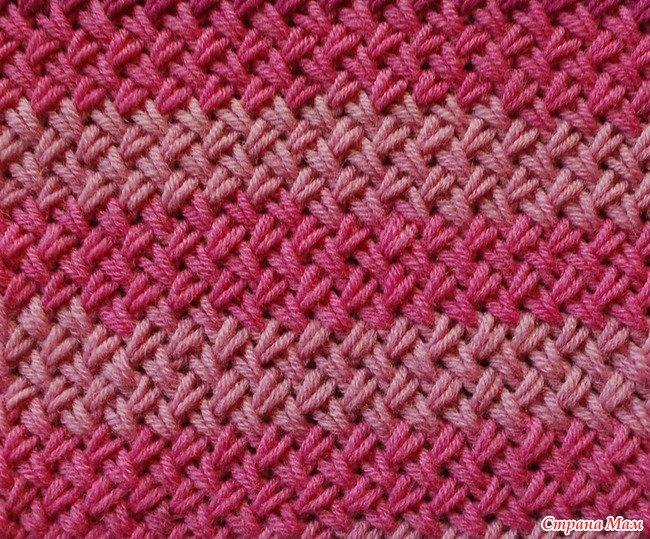 вязание плетенки простой спицами