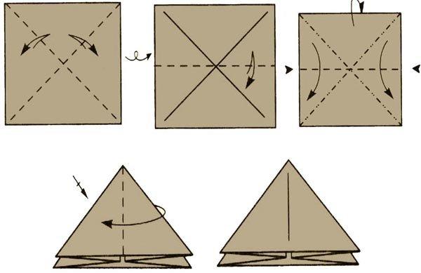 Треугольник из бумаги как сделать