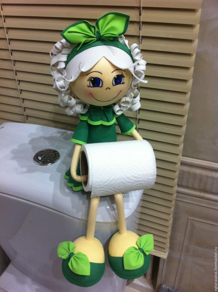 Кукла держатель для туалетной бумаги