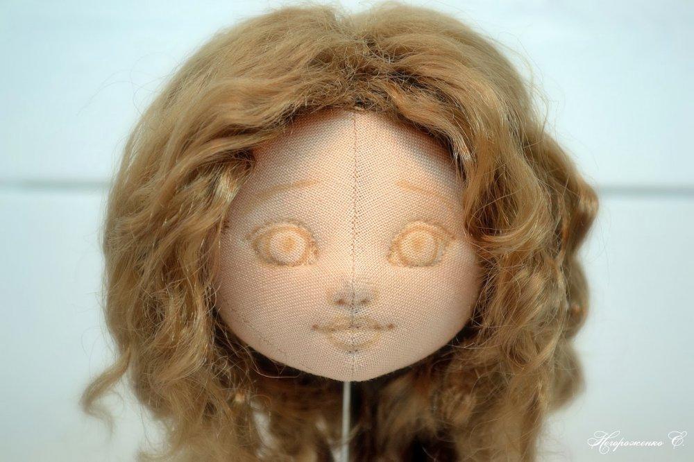 Как сделать утяжку лица текстильной куклы