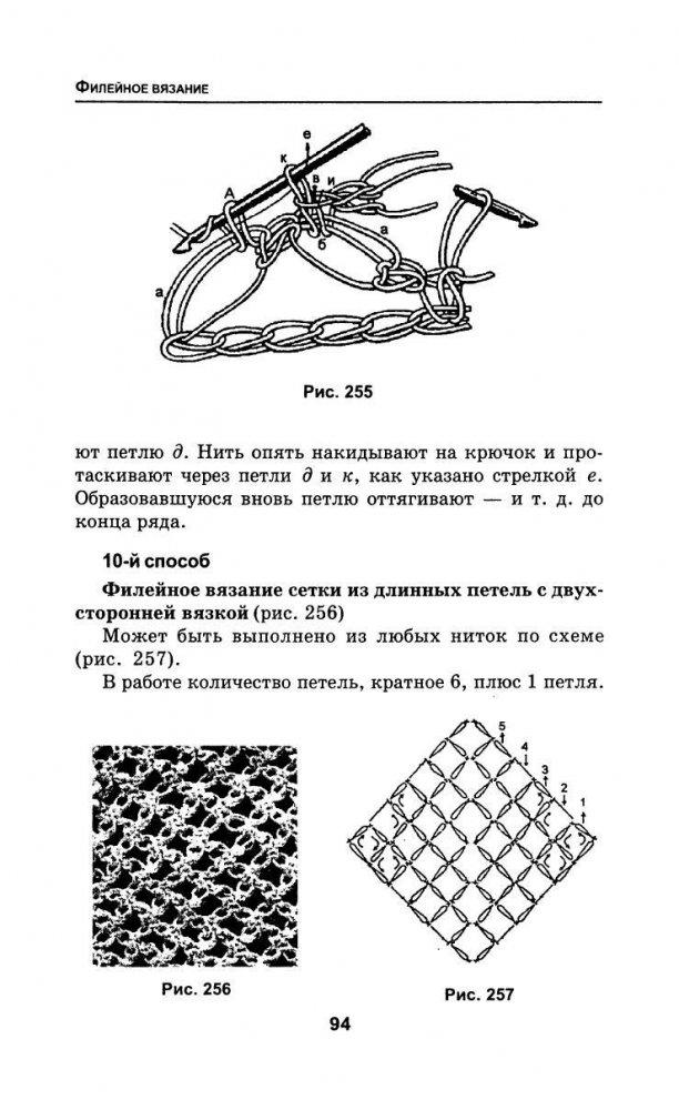 Филейная сетка крючком: схемы