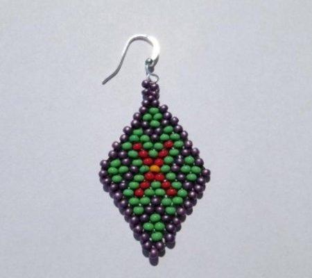 Бисероплетение: кирпичное плетение в пошаговом МК с поэтапными фото